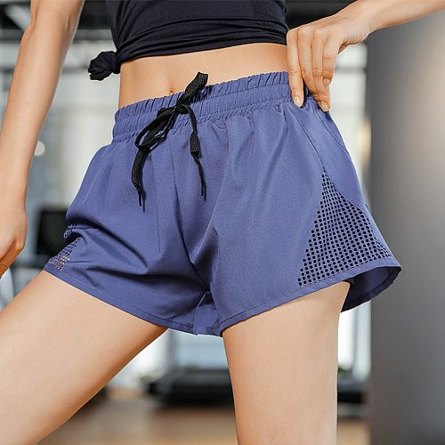 women sportswear casual shorts fitness anti-lighting yoga running shorts