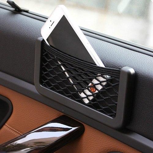 For Renault Fluence SM3 Samsung L38 2009-2016 Car Seat Side Back Storage Mesh Net Bag Phone Holder Pocket Trunk Organizer