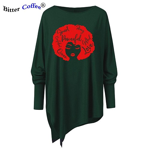 African American Woman smart strong powerful feministe Irregular tshirt funny graphic NEW vintage tees drops shipping tops