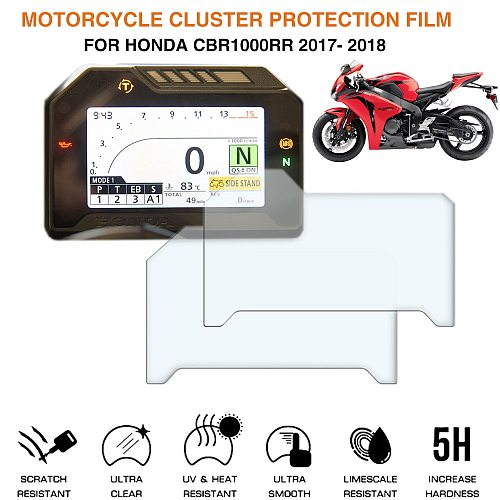 Motorcycle Cluster Scratch Protection Film Screen Protector For Honda CBR1000RR 2017- 2018