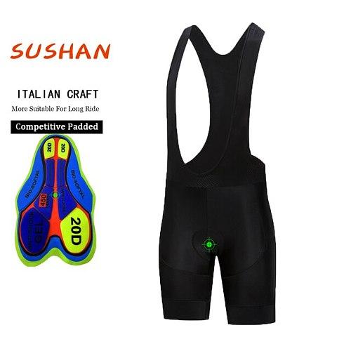 New 20D Padded Cycling Shorts Man /Women Pro Shockproof MTB Bicycle Shorts Summer Road Bike Shorts Black Cycling Tights
