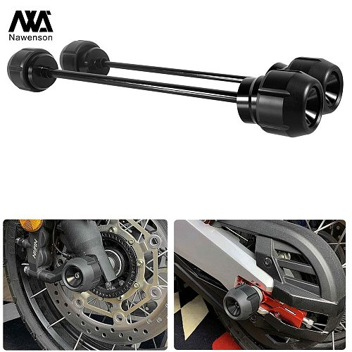 Motorcycle Axle Slider Kit Front and Rear Wheel Protection Pads for Z900RS 2017-2019 for G310GS 2017-2020 for G310R 2016-2020