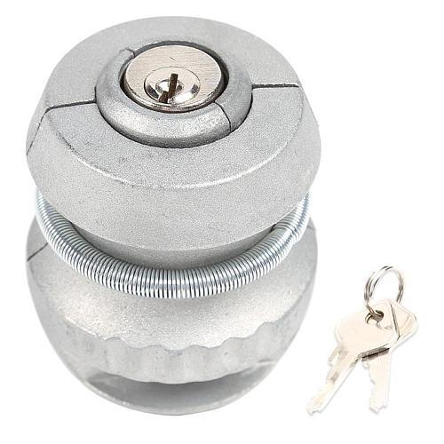 Anti-Theft Trailer Parts Hitch Lock Excellent Durable Zinc Alloy Process Ball Lock Coupling Tow Caravan 65x50x50mm
