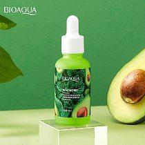 1Pcs Avocado Elastic Moisturizing Face Serum Hydrating Brightening Shrinking Pore Refreshing Essence Skin Care