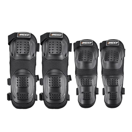 4pcs Black 2 x Knee Pads 2 x Elbow Pads Motorcycle Knee Pad Elbow Protector Protective Gear Thickening Protection Accessories