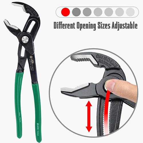 LAOA Water Pump Pliers Plumber Plumbing Combination Tools Universal Wrench Pipe Wrench  Grip Pipe Pliers Plumber cobra pliers