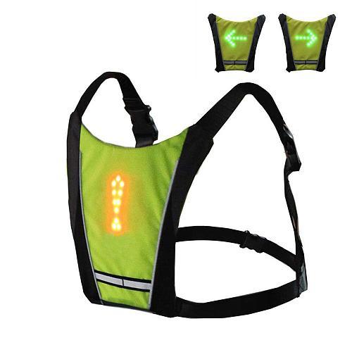 Cycling Safety LED Vest Motorcycle Reflective Safety Body Vest LED Cycle Pilot Lamp Reflective Safety Vest