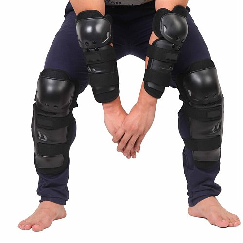 CAR-partment 4pcs Protective kneepad Motorcycle Knee pad Protector Sports Scooter Motor-Racing Guards Safety gears Race brace