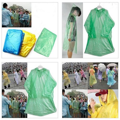 5/10 pcs Disposable Car Motorcycle Bicycle Rider Raincoat Adult Outdoor Emergency Waterproof Rain Coat For Travel Hiking Camping