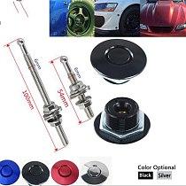 Energy Universal 32mm/1.25  Push Button Billet Hood Pins Lock Clip Kit Engine Bonnets Lock Aluminum Car Quick Latch