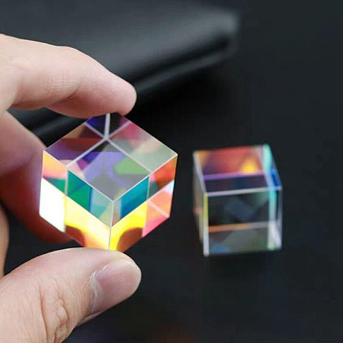 Rainbow Prism Optical Glass Combine Physics Refracted Light Spectrum Experiment Instrument