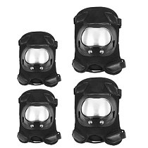 4pcs Stainless Steel Protective Plate Knee Protector Guard Motorcycle Ski Snowboard Skating Protection Elbow Knee Pads