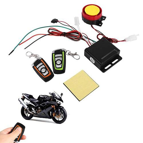 1Set Universal Motorcycle Alarm System Scooter Anti-theft Security Alarm System Two-way with Engine Start Remote Control Key Fob