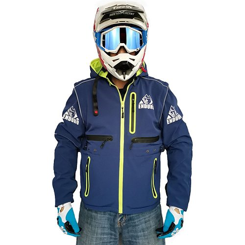 Spring and Autumn Winter Waterproof Cross-country Jacket Soft Case Coat  Cross-country Motorcycle Rider racing off-road jacket