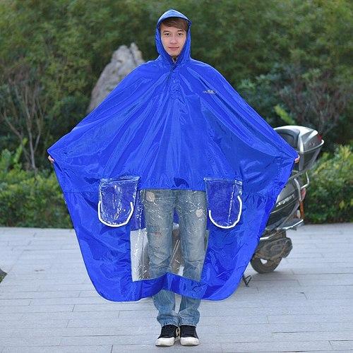 Motorcycle Scooter Raincoat Jacket Set Outdoors Thick Men Raincoat Outdoor With Hood Capa De Chuva Moto Rider Rainsuit OO50YY