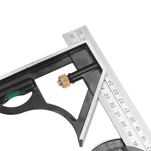 300MM Professional Carpenter Tool Combination Square Stainless Steel Protractor Multi-Function Measuring Tool