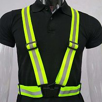 Highlight Reflective Straps Night Work Security Running Cycling Safety Reflective Vest High Visibility Reflective Safety Jacket
