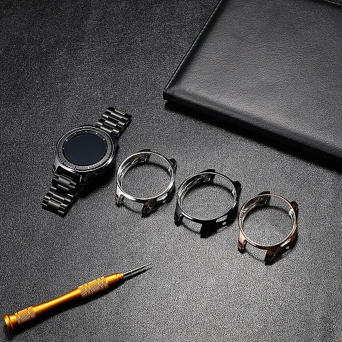 Case for Samsung Galaxy Watch 46mm 42mm/Gear S3 frontier bumper soft smart watch accessories plated protective diamond shellcase