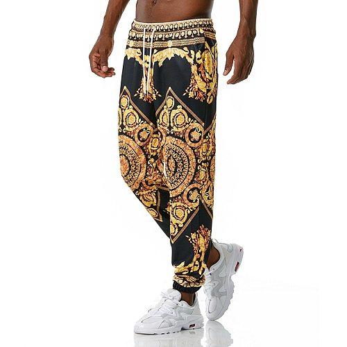 Luxury Royal Men Joggers Sweatpant 3D Floral Print Trousers Jogging Pants Men Casual Hip Hop Streetwear Sports Trousers Male XXL