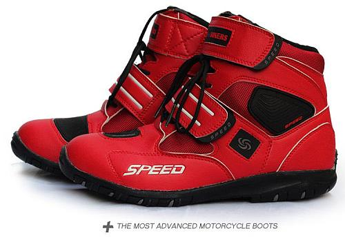 Motorcycle Boots Soft Motorcycle Boots Biker Waterproof Speed Motorboats Men Motocross Boots Non-slip Motorcycle Shoes