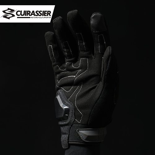Cuirassier Summer Motorcycle Gloves Men Touch Screen Breathable Motobike Riding Moto Protective Gear Motorbike Motocross Gloves