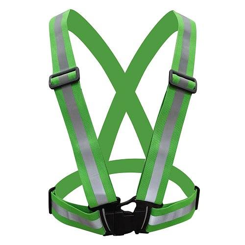 Bike Safe Reflective Vest Highlight Reflective Straps Night Running Clothing Vest Adjustable Safety Vest Elastic Band Uniforms