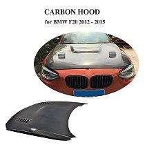 For BMW F20 2012 - 2015 Auto Front Engine Bonnets Hood Cover Double Side / Singel Side Carbon Fiber