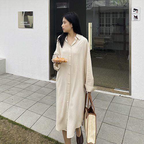 2021 Women Spring Long Sleeve Casual Blouse Turn Down Collar Women Long Blouses Tops For Women Elegant Women White Shirt