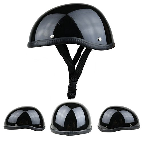 1Piece 57-62cm ABS Plastic Motorcycle Helm Motorcross Capacete Half Helmet for  Retro Matte Bright Black