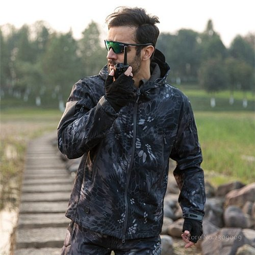 Military Tactical Men US Army Windproof Waterproof Clothes Soft Shell Outdoor Military Sport Jacket or Pants