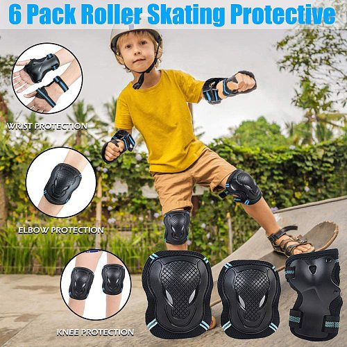 Roller Skating Protective Gear Kids Adults Wrist Guard Riding Knee Protector Set Child Safety Joint Protection Outdoor R5