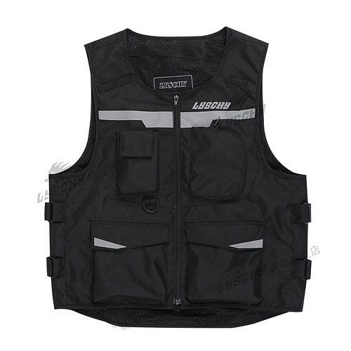 LYSCHY Motorcycle Vest Motorbike Protective Gear Moto Jacket Reflective Vest Sleeveless Breathable Riding Safety Vest Clothing