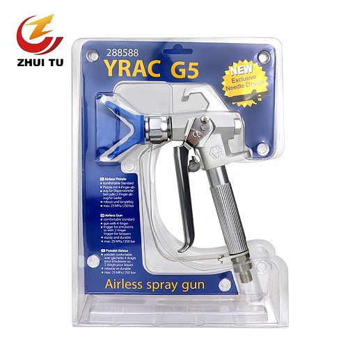 Fast Delivery 3600PSI/248bar Paint Latex Paint G5 Airless Spray Gun +519 Nozzle Is Suitable For Titan Wagner Spraying Machine