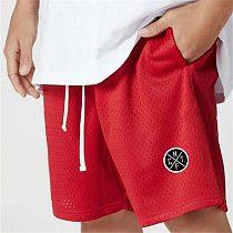 Men's Brand Clothing Running Shorts Mesh Quick Drying Sport Shorts Gym Fitness Bodybuilding Workout Pockets Short Pants Men