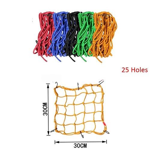 30*30cm 25 Holes Motorcycle Bicycle Cargo Net Helmet Rope Luggage Storage Bag Twine Motorycle Net Bags Mesh
