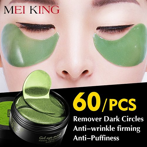 MEIKING Eye Patches 60 Pcs Collagen Crystal Hyaluronic Acid Remover Dark Circles Anti-wrinkle Patches Under The Eyes Of Korea