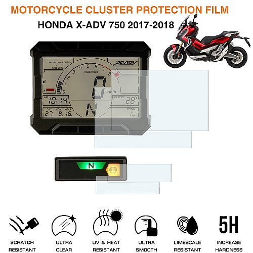 For Honda X-ADV750 2017 2018 Cluster Scratch Protection Film Motoecycle Screen Protector Instrument Speedometer Film