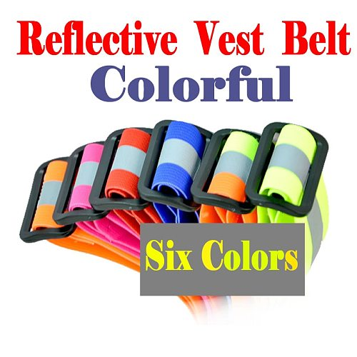 Adjustable Safety Security High Visibility Reflective Vest Gear Stripes Jacket For Night Running Motorcycle Riding