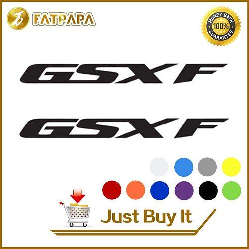 motorcycle bike Fuel tank Wheels Fairing notebook Luggage helmet  MOTO  Sticker decals For SUZUKI GSXF 600 750 400