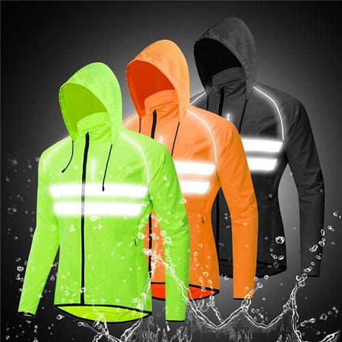 WOSAWE Waterproof Cycling Jacket Men Rainproof Outdoor MTB Bike Wind Coat Road Breathable Windbreaker Sunscreen Hiking Jacket