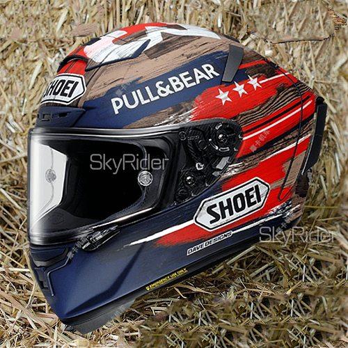 Full Face Motorcycle helmet X14 93 Marquez Amariica GP  anti-fog visor Riding Motocross Racing Motobike Helmet