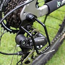 Bicycle Derailleur Protector Bicycle Chain Gear Protector Back Rear Derailleur Guard Protect Rack Transmission Bike Accessories