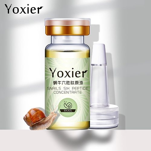 Yoxier Serum Face Anti-Aging Snails Hyaluronic Acid Six Peptide Concentrate Face Care Moisturizing Oil-control Snail Essence