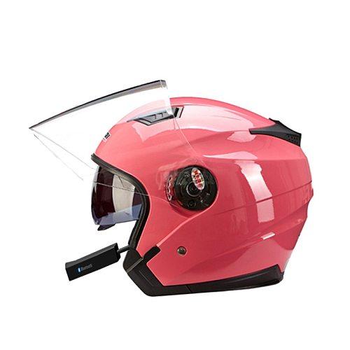 Motorcycle Double Visor Half Helmet Men Women Electric Vehicles Bike Scooter Helmets Motorbike Bluetooth Open Face Casco Moto
