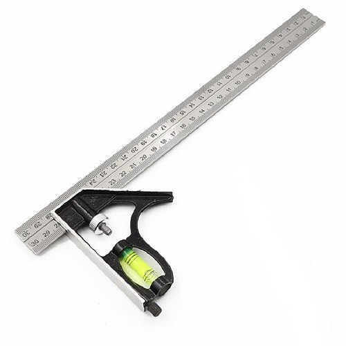 New 300mm(12 ) Adjustable Engineers Combination Try Square Set Right Angle Ruler P20