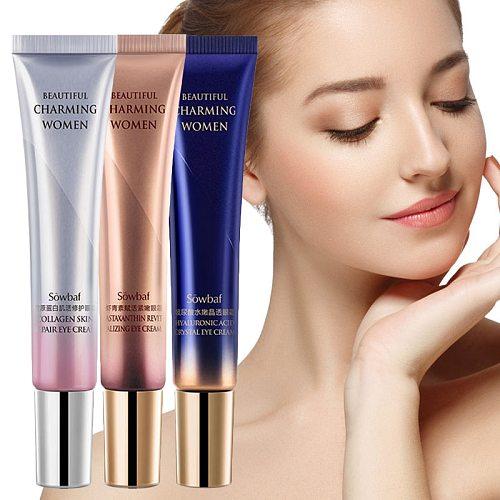 Sowbaf Peptide Collagen Repair Eye Cream Hyaluronic Acid Astaxanthin Eye Cream Serum Against Puffiness Anti-Age Remove Eye Cream