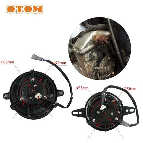 OTOM Motorcycle Oil Cooler Electric Radiator Cooling Fan Engine Radiator 4inch Or 5inch Universal For HONDA KTM KAWASAKI SUZUKI