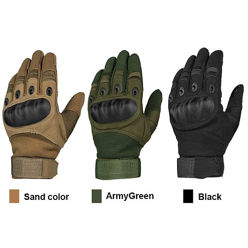 OZERO Men Full Finger Touch Screen Tactical Army Gloves Cycling Hiking Riding Moto Motorcycle Gloves Microfiber Motocicleta