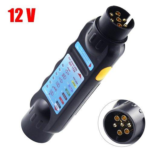 7 Pin Car Truck Trailer Plug Socket Tester Wiring Circuit Light Test Tool Diagnostic Tools Black Adapter Auto Diagnostic Tool