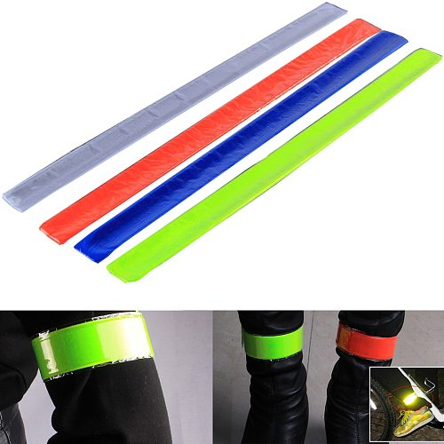 40CM motorcycle Safety clothing reflective strips Reflective Wristband slap band for running riding sports safety visibility